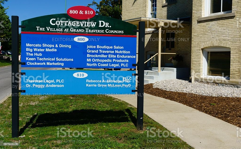 The Village At Grand Traverse Commons stock photo