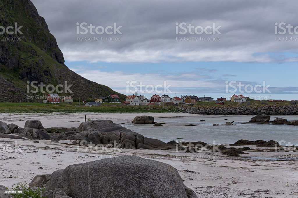 The village at the end of the beach royalty-free stock photo