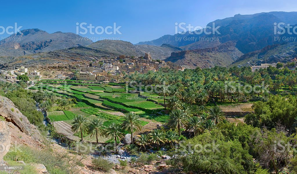 The village Bilad Sayt,  Oman stock photo