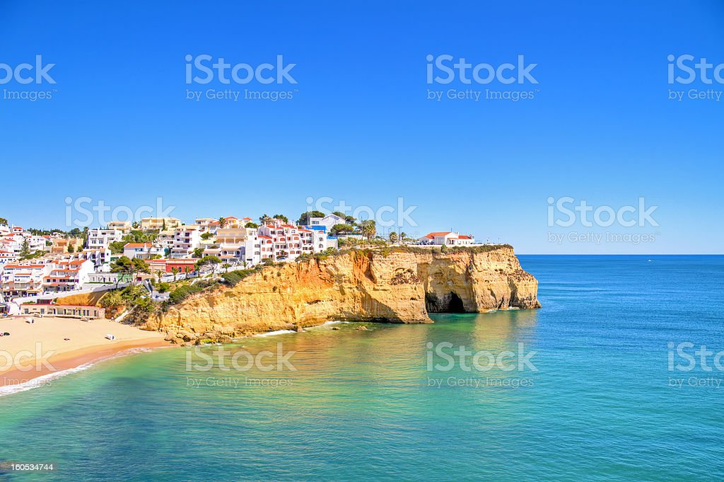 The village Carvoeiro in Algarve Portugal stock photo