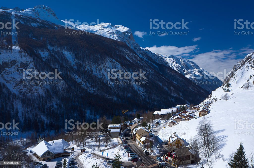 The village La Grave in France stock photo