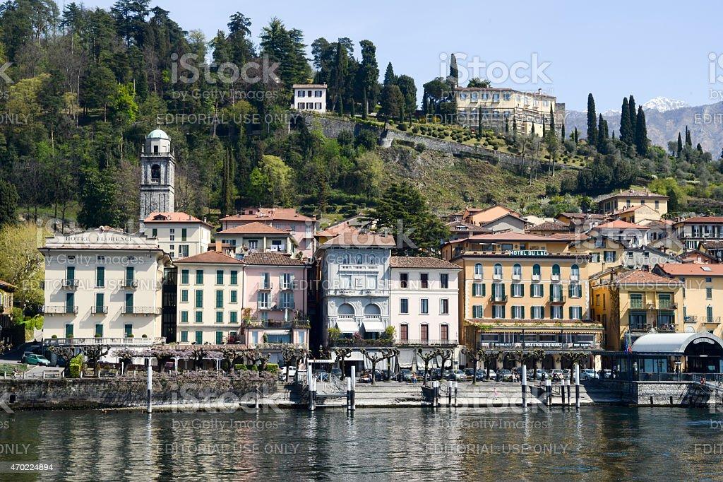 The village of Bellagio on lake Como stock photo