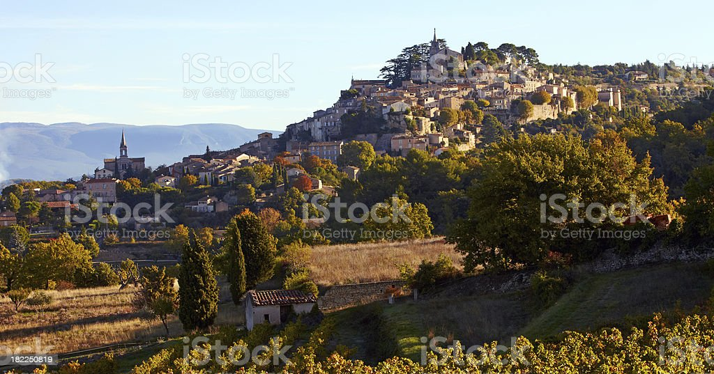 The village of Bonnieux in fall royalty-free stock photo