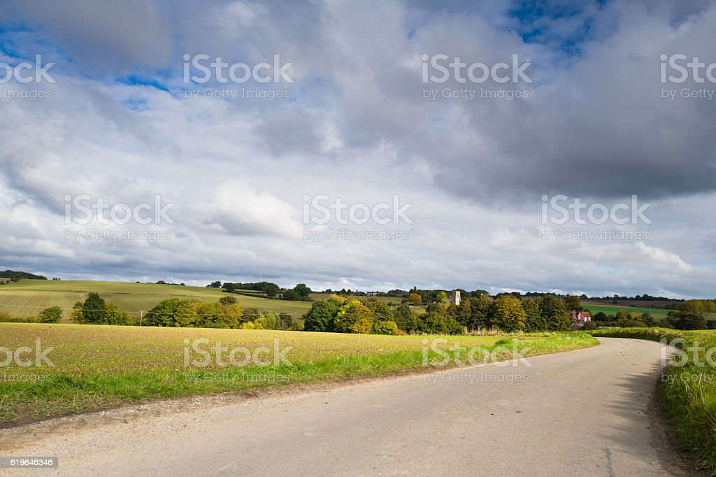 The Village of Hawkedon, stock photo