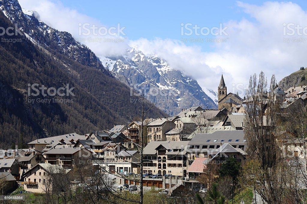 Le village de La Grave, Hautes-Alpes stock photo