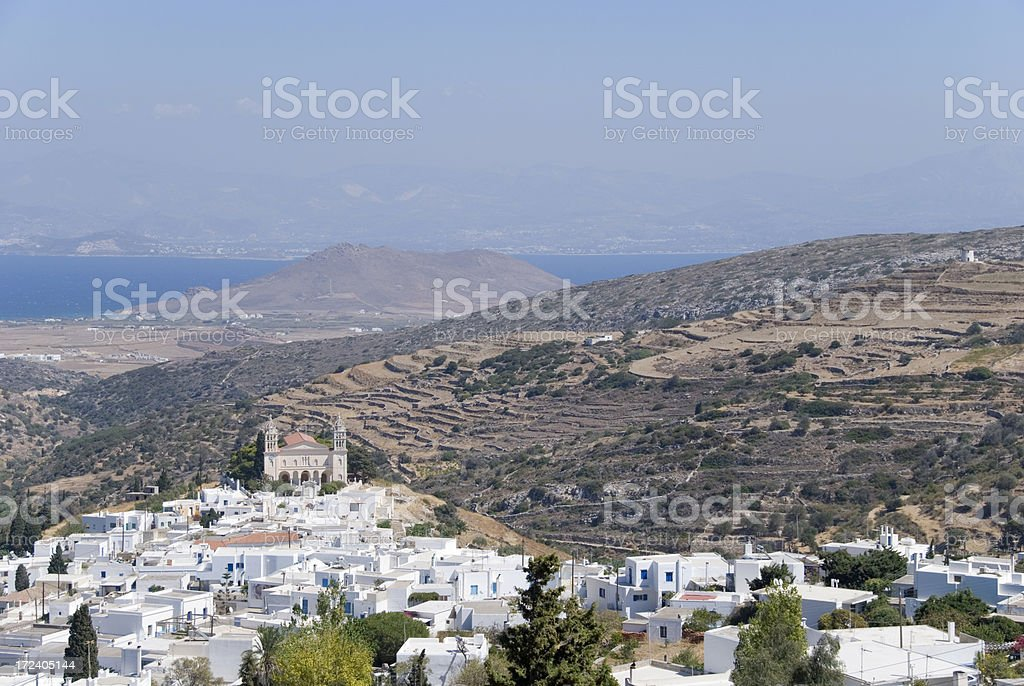 The village of Lefkes stock photo
