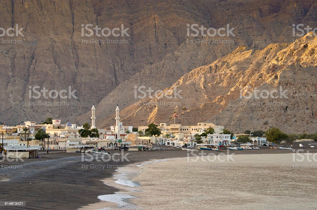 The village of Lima in Oman stock photo