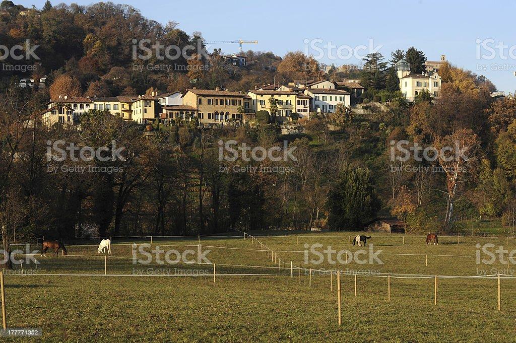 The village of Muzzano near Lugano royalty-free stock photo