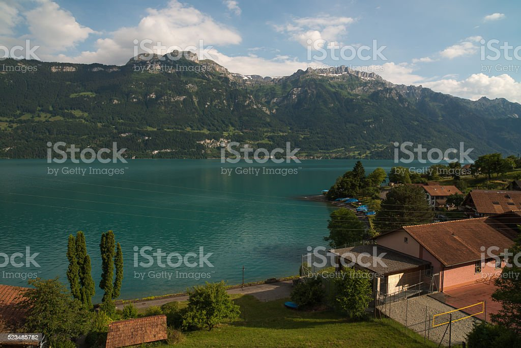 The village of Niederried bei Interlaken, Switzerland stock photo