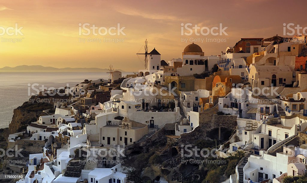 The village of Oia royalty-free stock photo