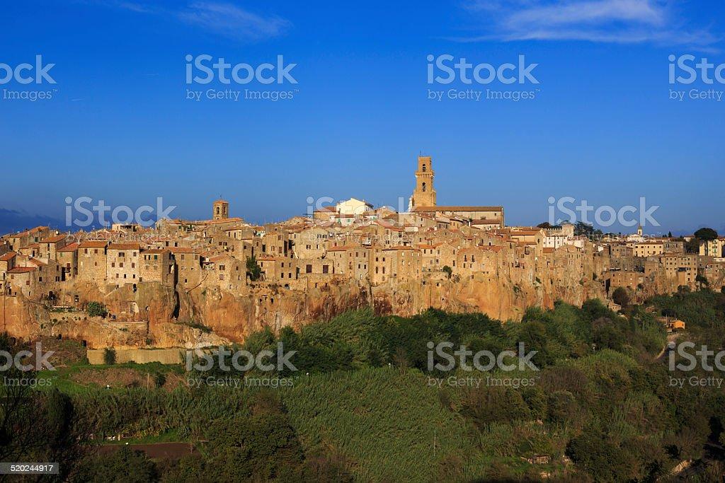 The village of Pitigliano in Tuscany stock photo