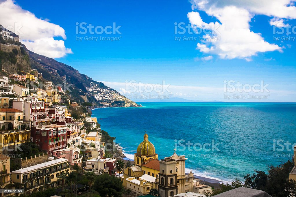 The village of Positano stock photo