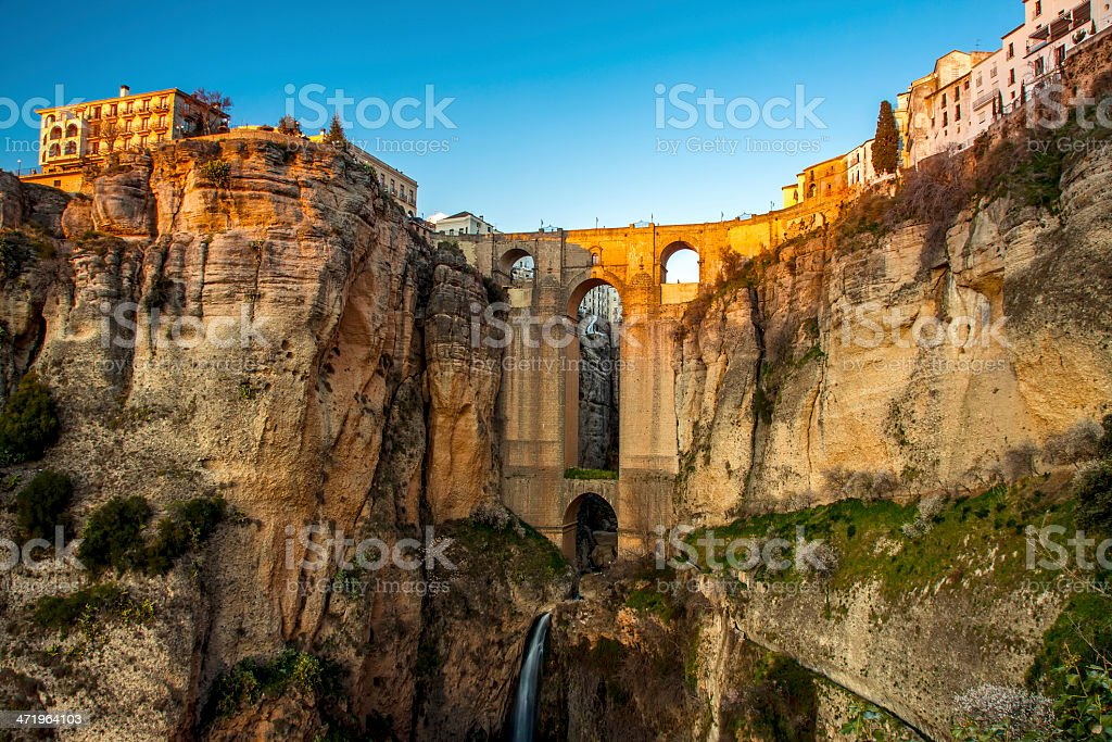 The village of Ronda in Andalusia, Spain. stock photo