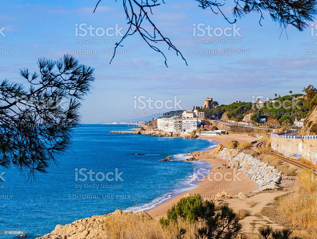 The village of Sant Pol de Mar, Spain stock photo