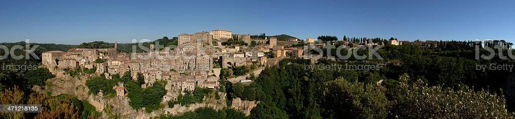 The village of Sorano - Tuscany stock photo