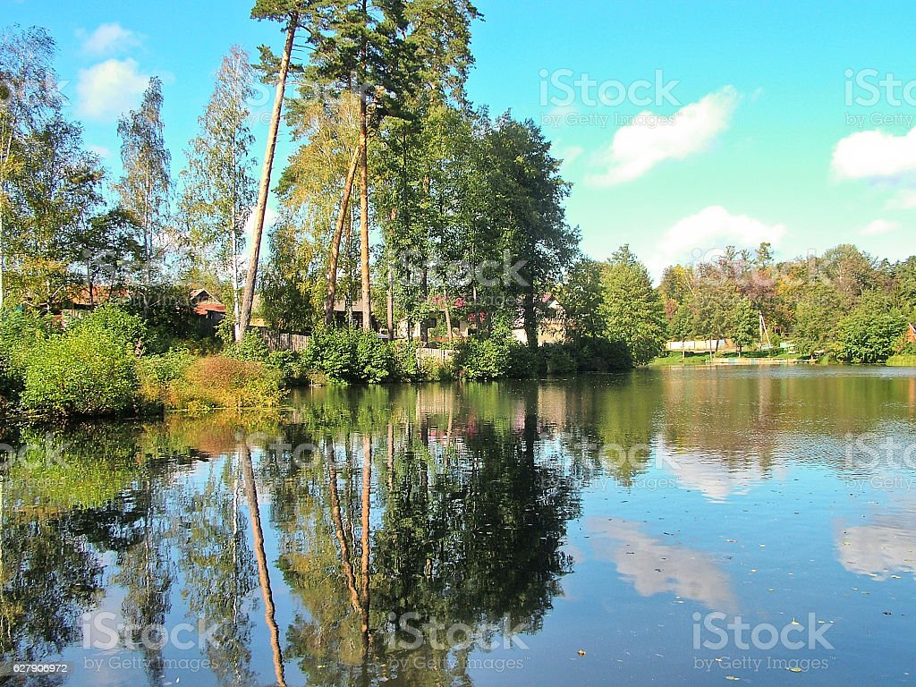 The village of Tulinovka in Russia stock photo