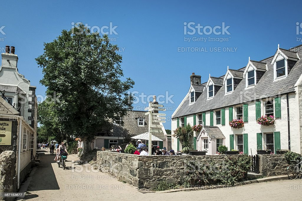 The Village, Sark, Channel Islands stock photo