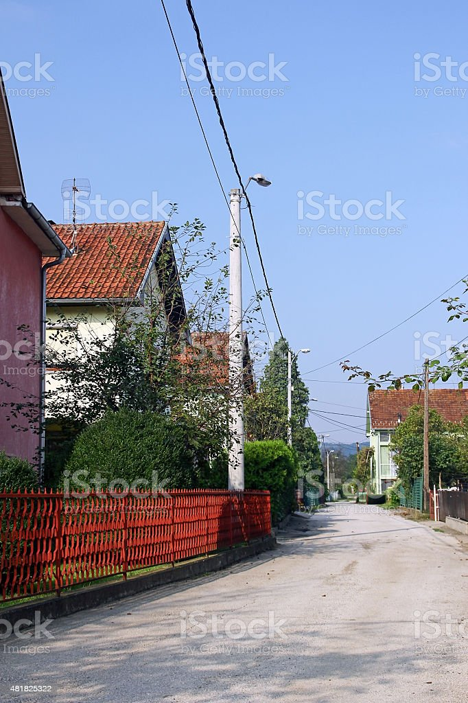 The village street stock photo