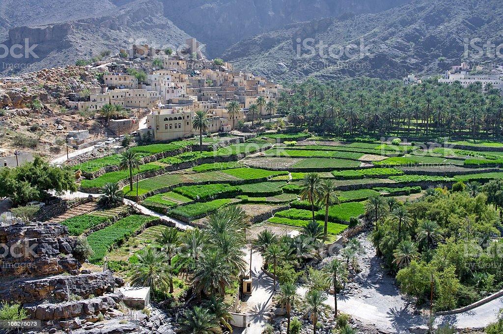 The village, sultanate Oman stock photo