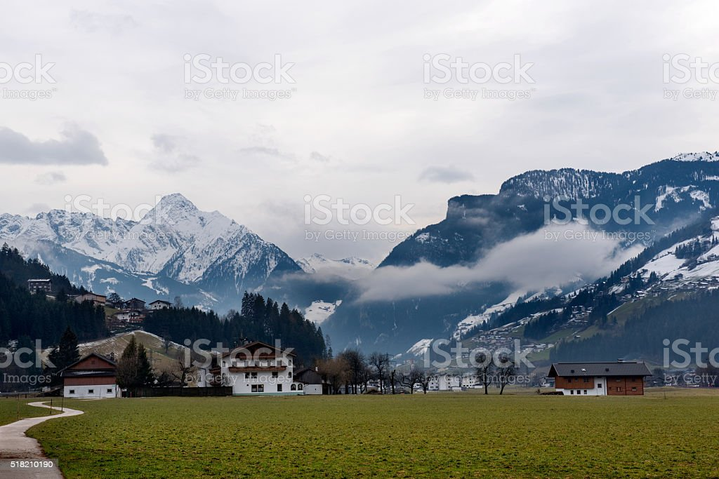 The Village Zell am Ziller, in the Zillertal, Austria stock photo