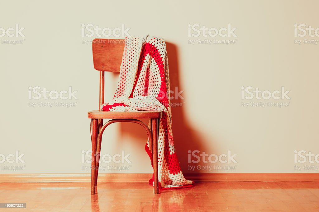 The vintage chair stock photo