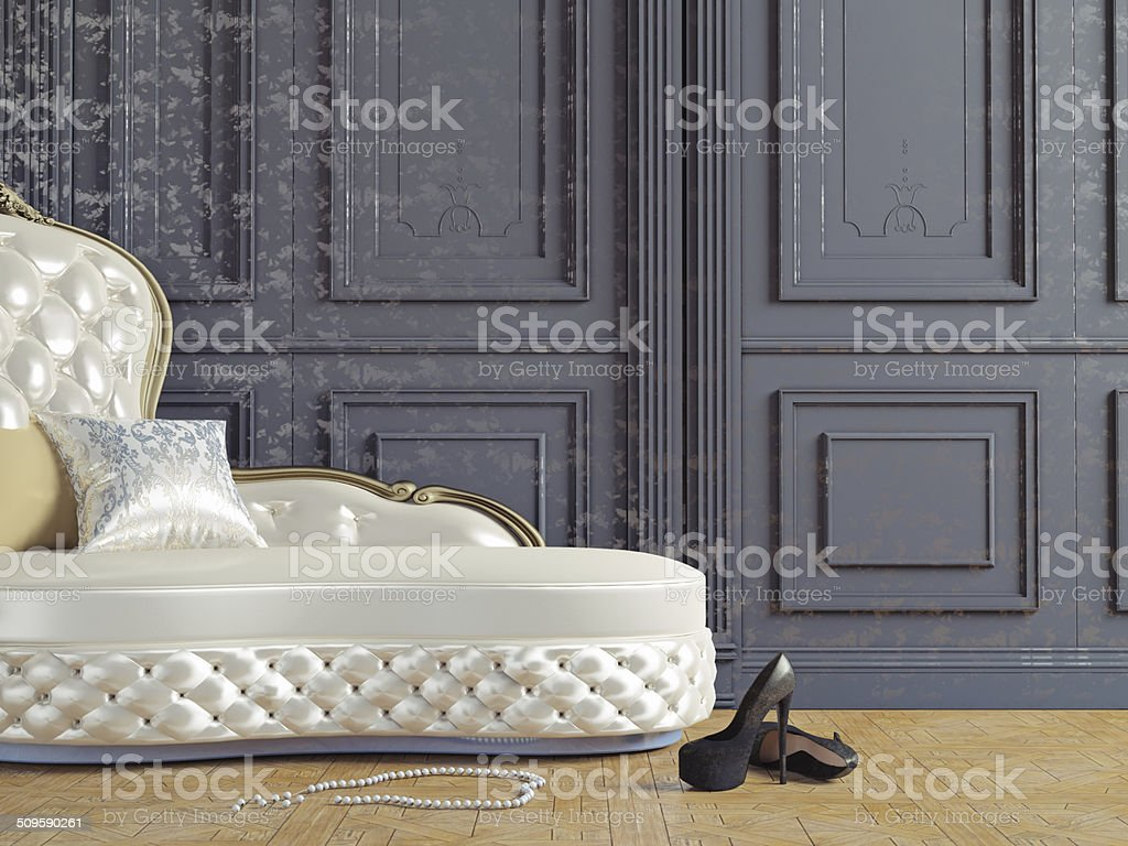 the vintage sofa stock photo
