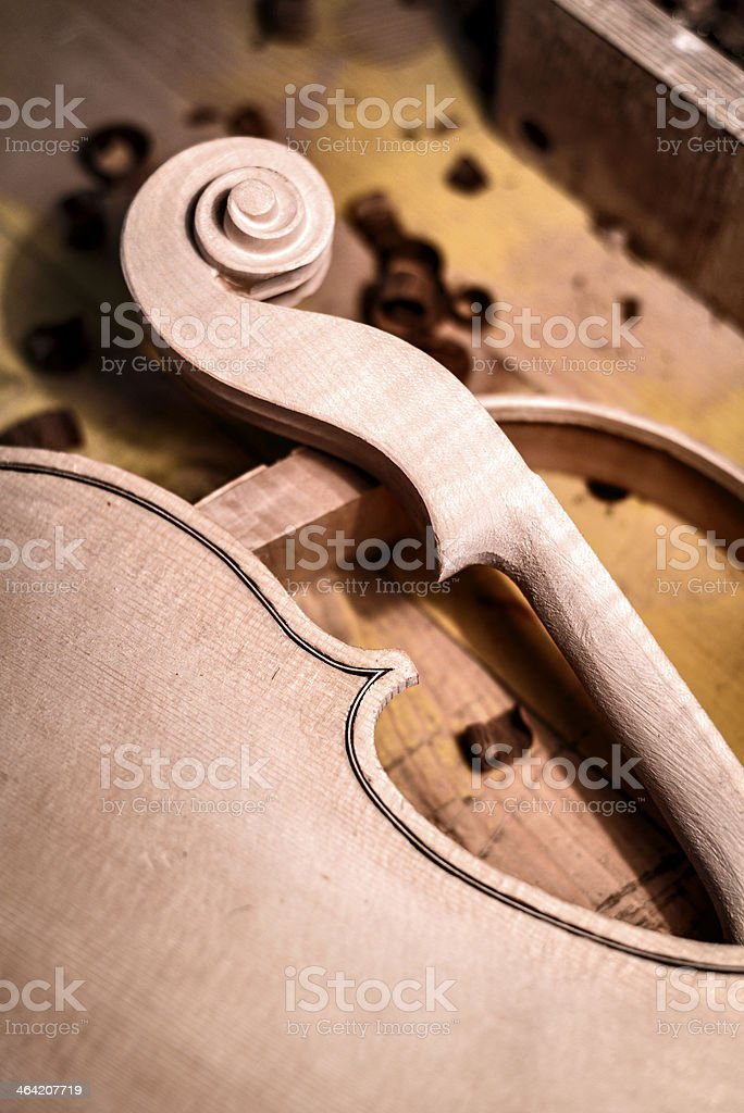 The violin maker laboratory royalty-free stock photo