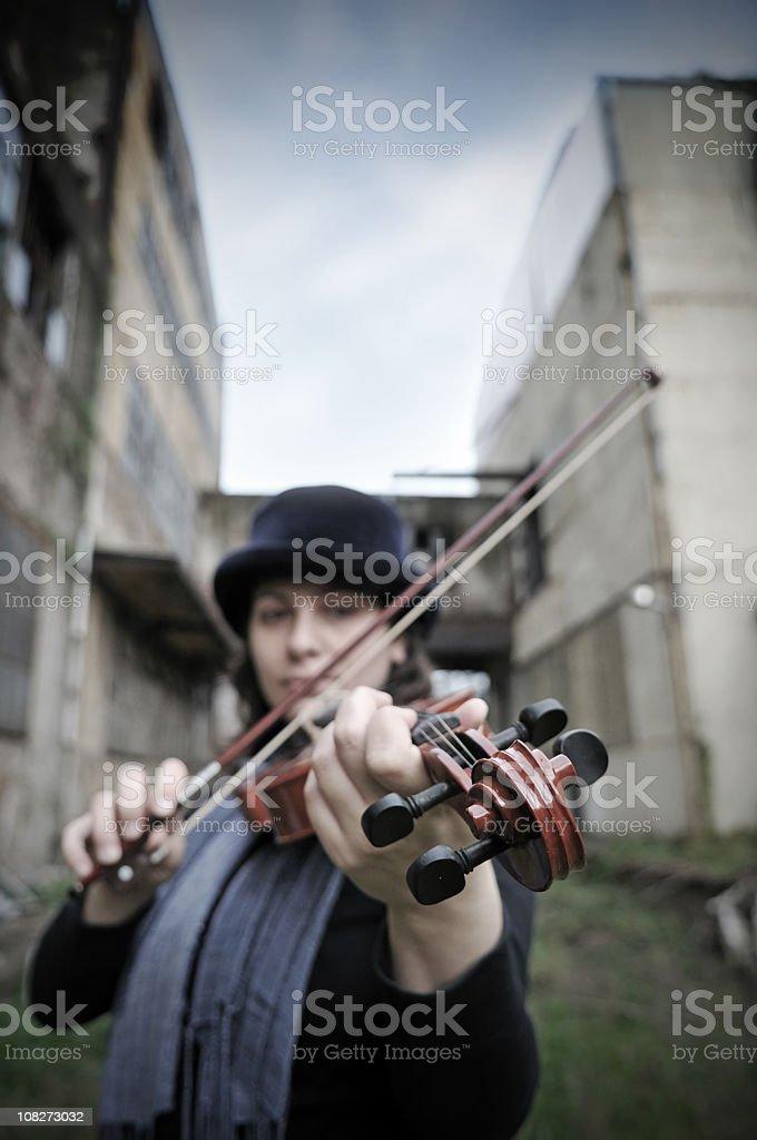The Violinist stock photo