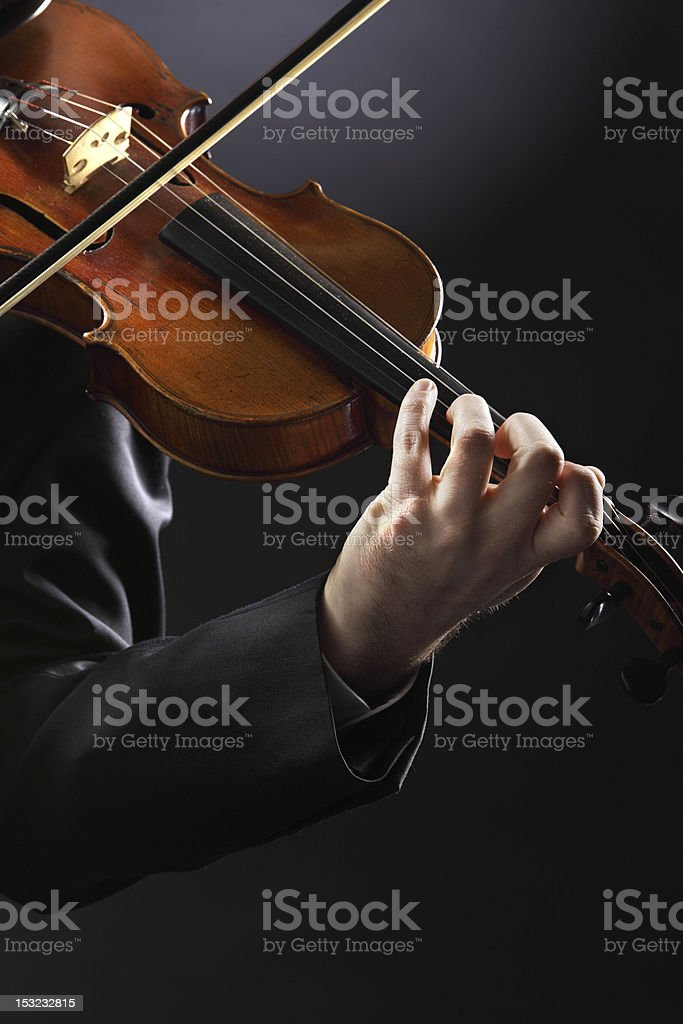Du violoniste photo libre de droits