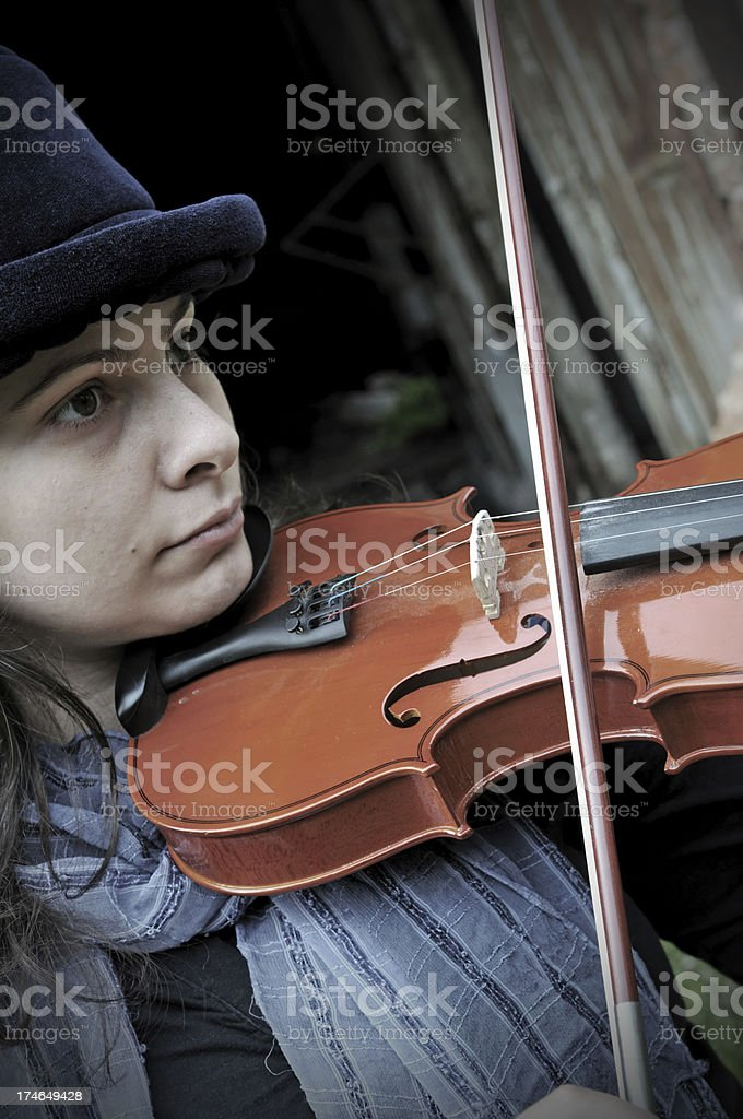 the violinist royalty-free stock photo