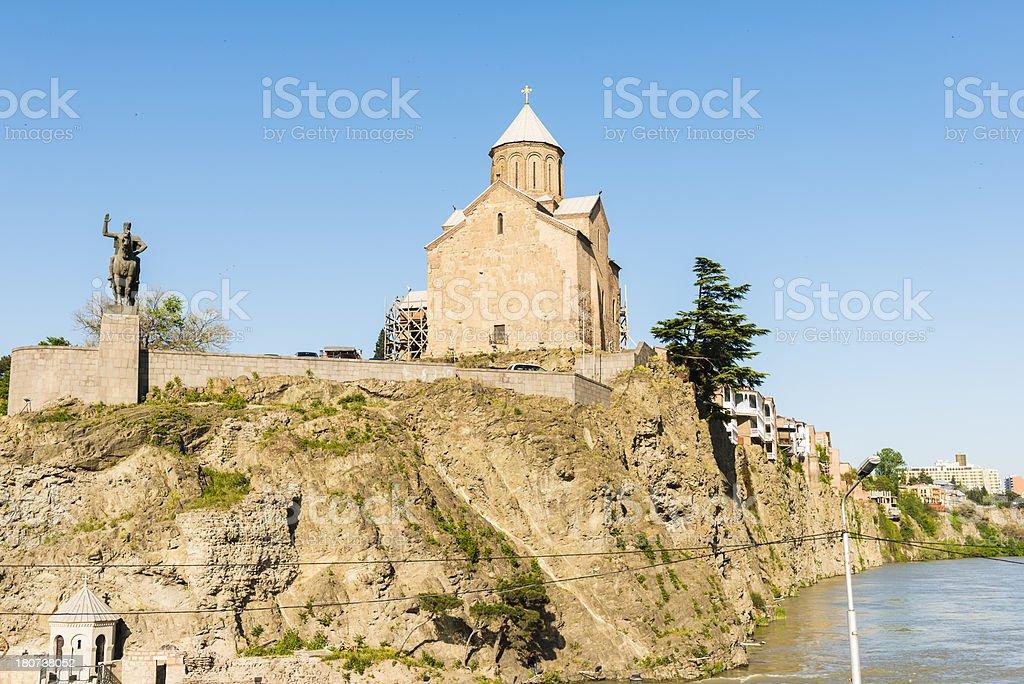 The Virgin Mary Metekhi church stock photo