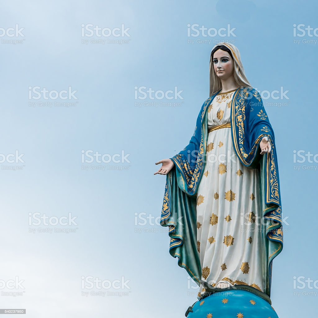 The virgin mary stock photo