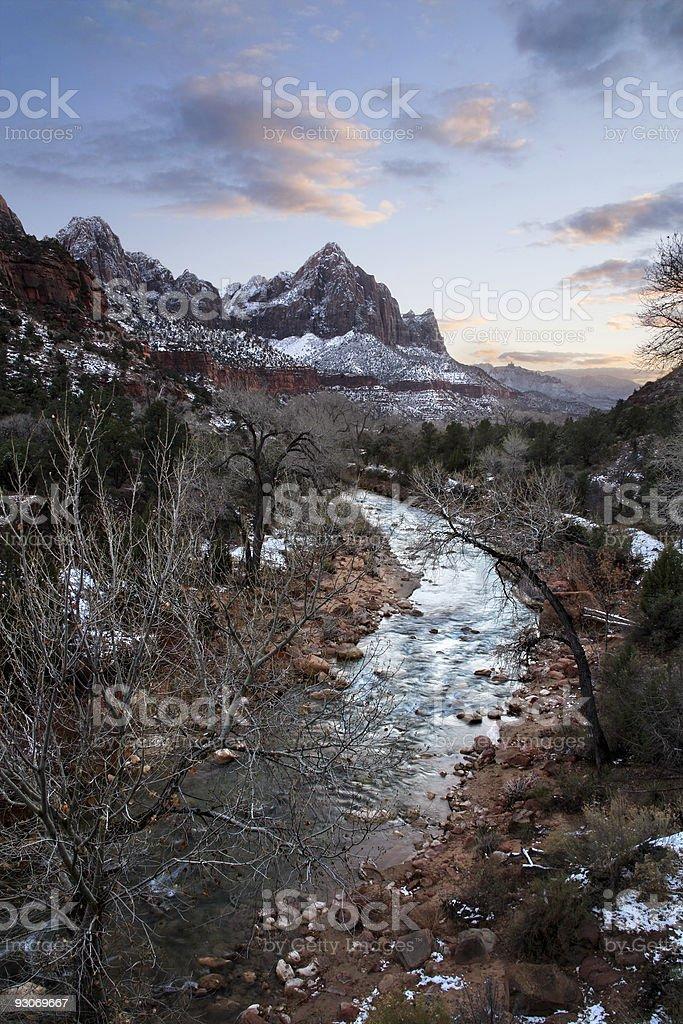 The Virgin River stock photo