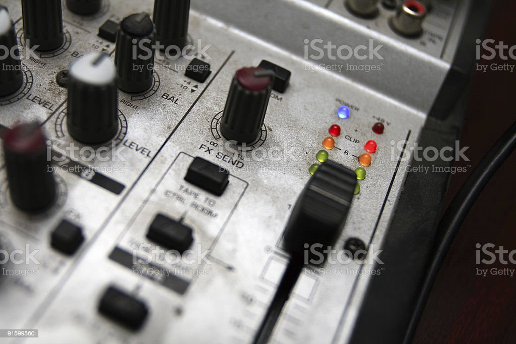 The vision control desk royalty-free stock photo