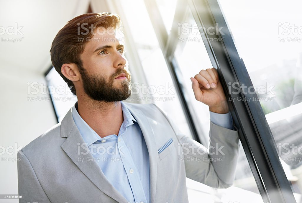 The vision of an ambitious man stock photo