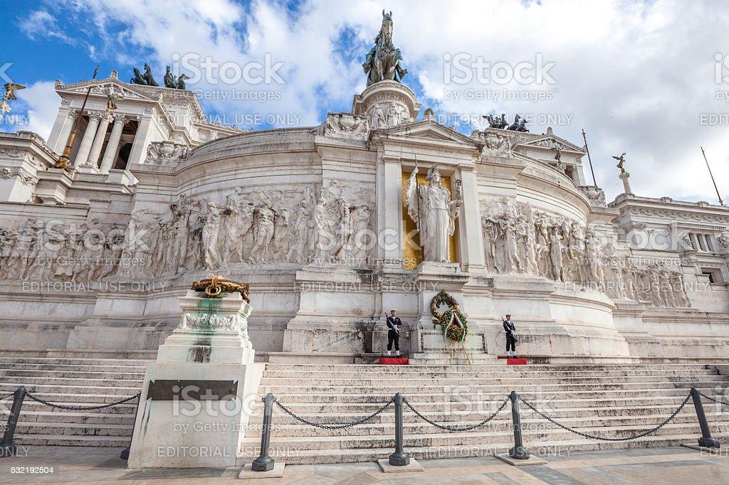The Vittoriano symbol of Rome stock photo