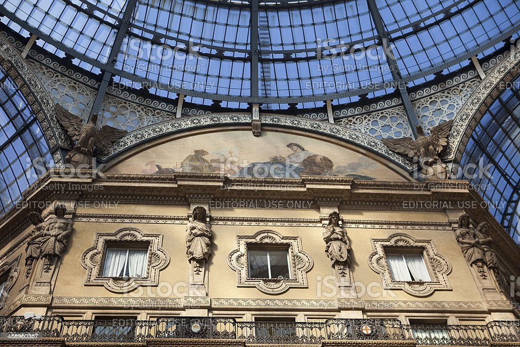 The Vittorio Emanuele II shopping mall- Milano 2011 royalty-free stock photo