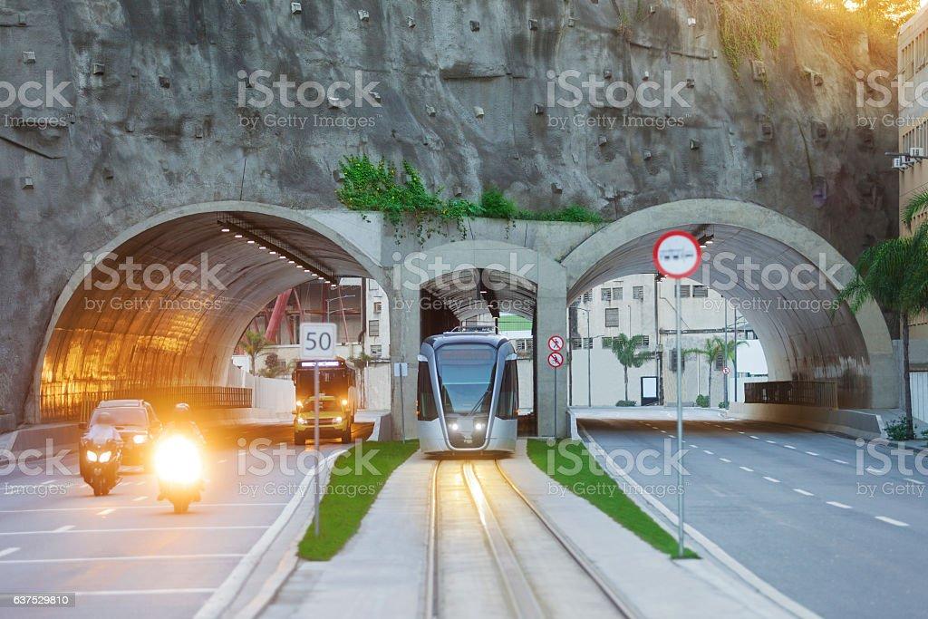 The VLT in new Rio de Janeiro Port Region stock photo