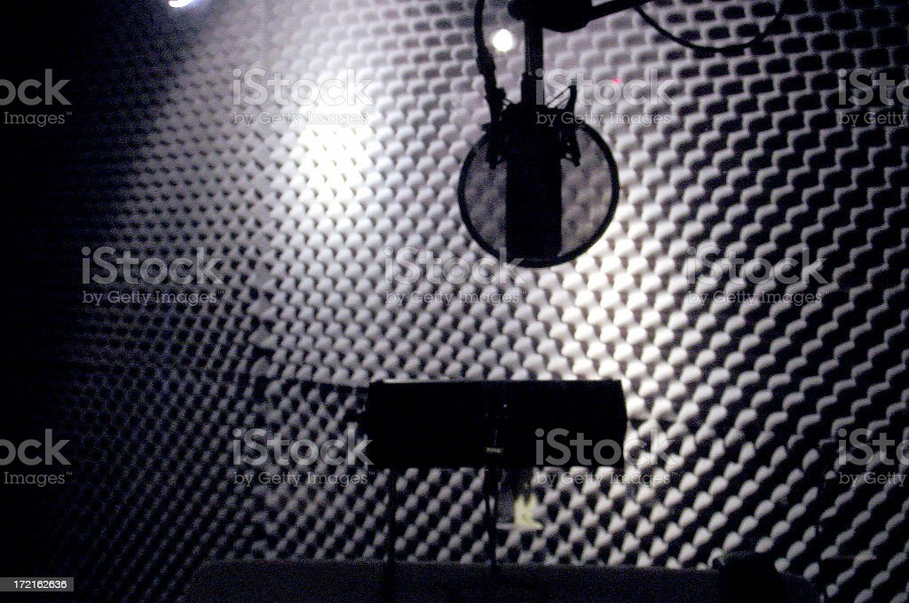 The Vocal Booth stock photo