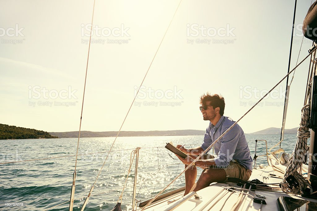 The voice of the sea speaks to the soul stock photo