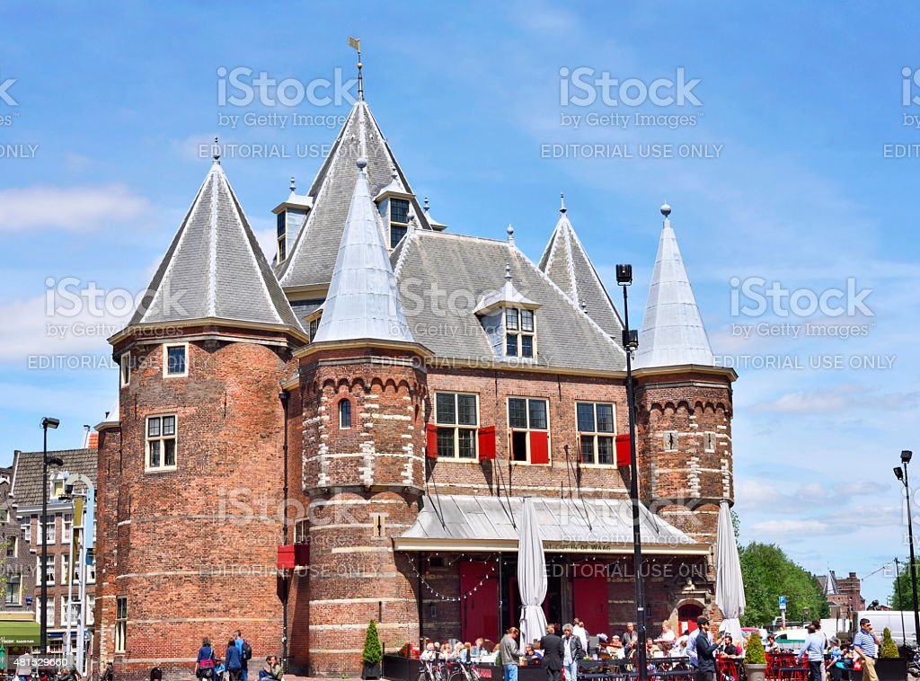 The Waag, Amsterdam stock photo