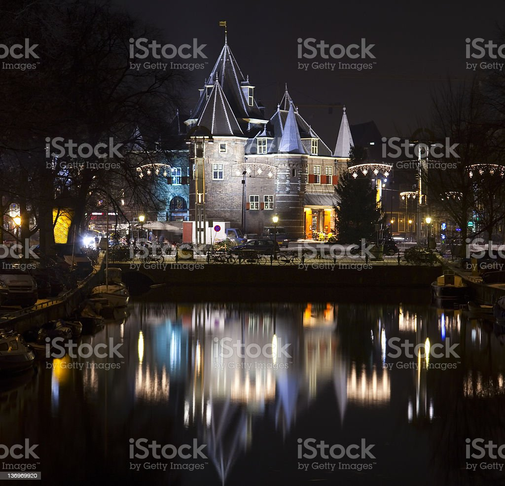 The Waag in  Amsterdam stock photo