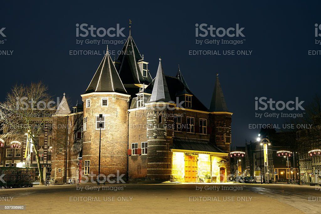The Waag  in Amsterdam, The Netherlands stock photo