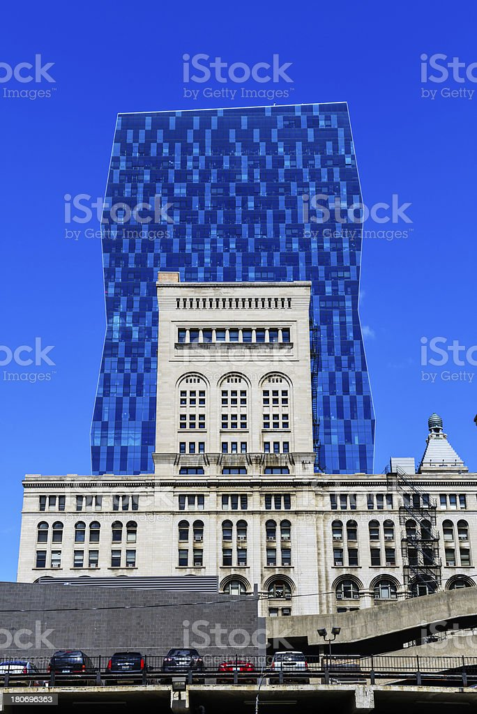 The Wabash and Auditorium Buildings, Chicago royalty-free stock photo