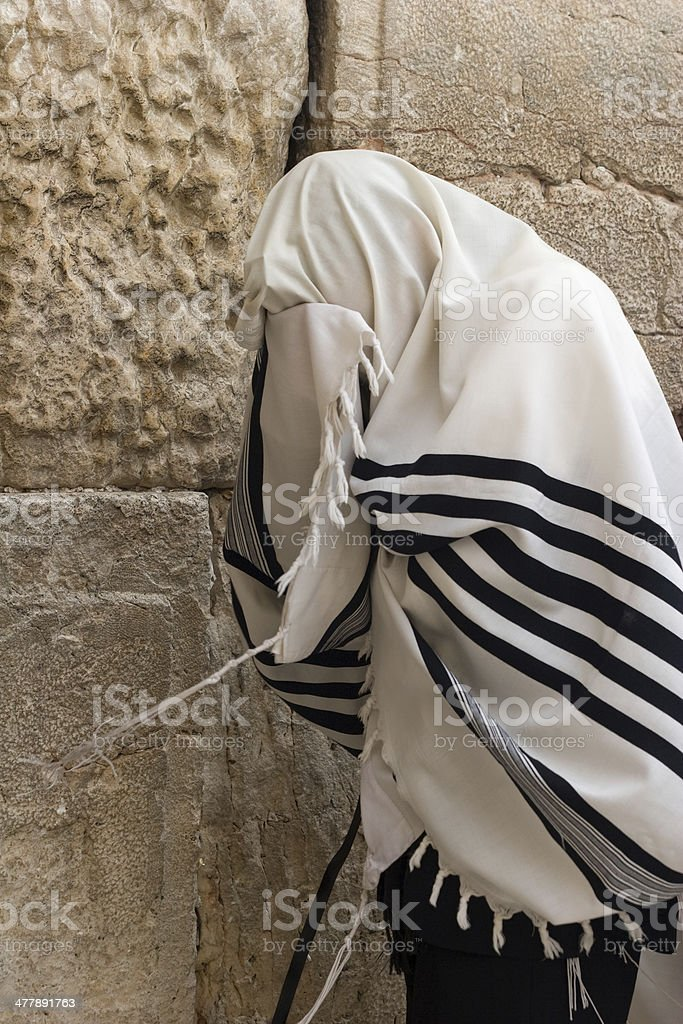 the wailing wall in Jerusalem stock photo