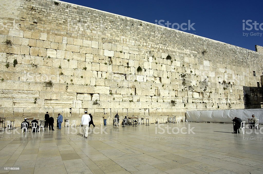 The Wailing Wall Jerusalem Israel royalty-free stock photo