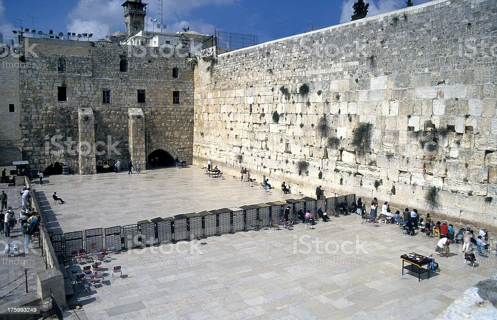 The Wailing Wall Jerusalem, Israel royalty-free stock photo