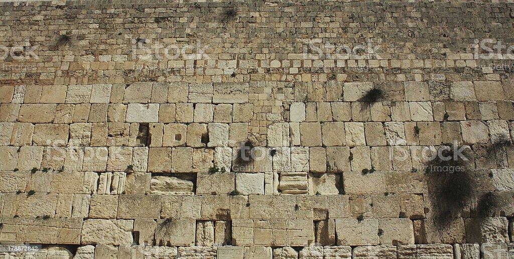 The Wailing Wall - Jerusalem royalty-free stock photo