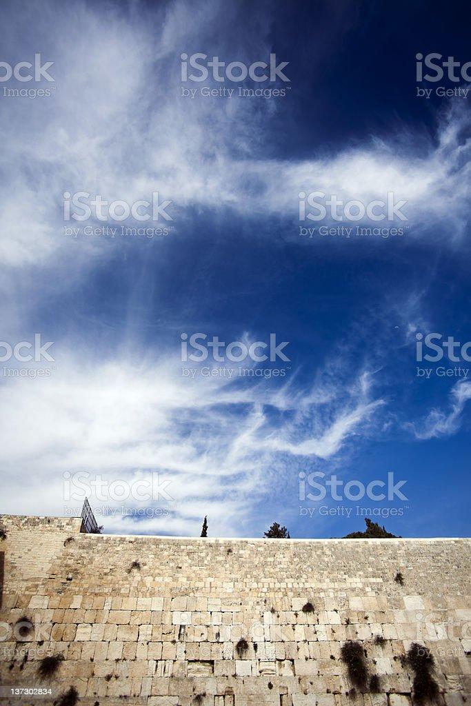 The Wailing Wall royalty-free stock photo