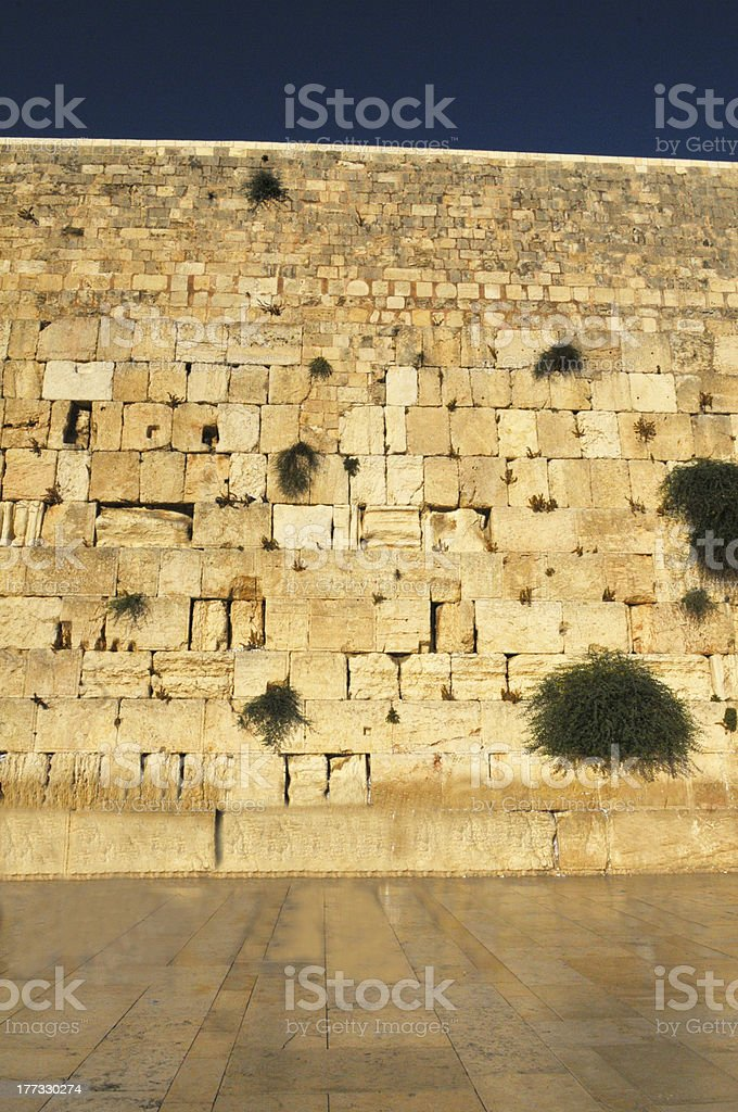 The wailing wall royalty-free stock photo